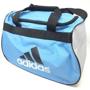 9d35cb22800 adidas Bags   Gym Workout Aqua Logo Duffle Overnight Bag   Poshmark